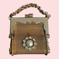 Vintage Gold Tone Mesh Purse / Handbag for French German Doll