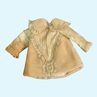 Exquisite Old Velvet, Silk, and Lace Dress for Tiny French German Bisque Doll