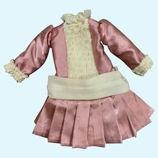 Exquisite Artisan Drop Waist Doll Dress for French German Bisque