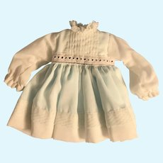 Vintage Cotton Organdy Dress for Medium Doll