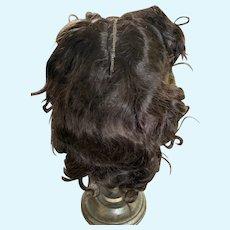 Splendid 1940's Size 15 Brunette Wig for Composition Mama Doll