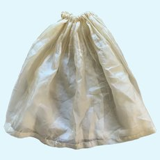 Elegant Cream Silk Drawstring Waist Doll Slip for French German Bisque