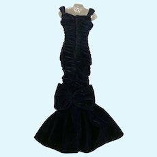 Franklin Mint Princess Diana Doll Midnight Blue Velvet Gown