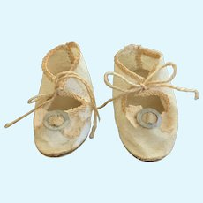 """German Canvas Doll Shoes 2.5"""" with Socks"""