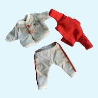 """Sporty Little Baseball Uniform for 7""""-8"""" Doll"""