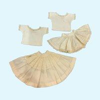 Vintage Doll Slips and Camisoles Lot for French German Bisque China