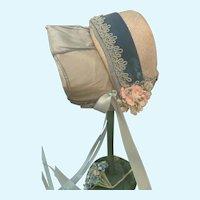 Splendid Vintage Doll Bonnet for French German Bisque