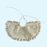 Dainty Cream Wool Doll Cape for Tiny French German Bisque