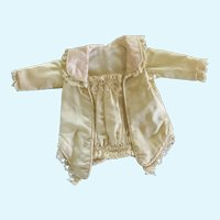 Exquisite Silk and Lace Lined Camisole Jacket for Small French German Doll
