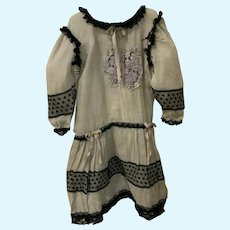 """Lovely Vintage Drop Waist Doll Dress for 22""""-23"""" French German Bisque"""
