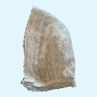 Exquisite French Lace Doll Bonnet for French German Bisque