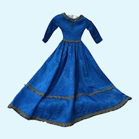 Magnificent Vintage Silk Brocade Doll Dress for Large French German China Bisque