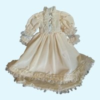Elegant Silk Taffeta Doll Dress for French German Bisque