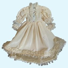 Elegant Silk Taffeta Doll Dress for French German Bisque