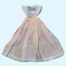 Delightful Pastel Sheer Organdy Doll Pinafore for French German China Bisque