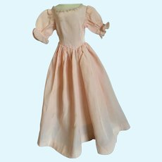 Vintage Pink Silk Taffeta Doll Dress