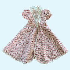 Sassy Vintage Red and White Doll Dressing Gown