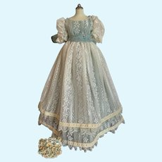 Vintage Lace Doll Dress for French German China Bisque