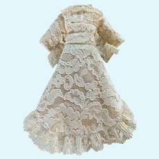 Tiny Elegant Lace Doll Dress for French German China Bisque