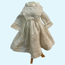 Perfect Vintage White Dress for Small French German Doll
