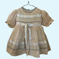 Fabulous Vintage 1950's Cotton Batiste Doll Dress, Slip, Undies HTF!