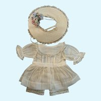 Vintage 3-Piece Outfit for Small French German Bisque Doll