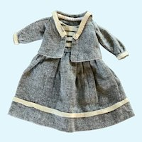 """Perfectly Charming Wool Doll Suit for 10""""-11"""" French German Bisque China"""