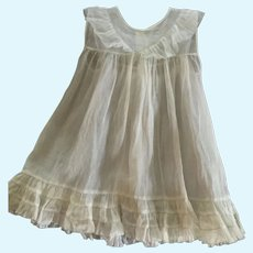 Vintage Organdy Pinafore for Large French German Bisque Doll