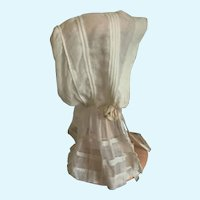 French Bonnet with Bavolet for Antique Bisque Doll