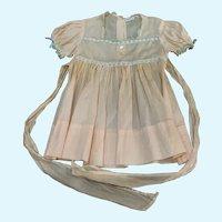 Vintage Pink Dress for Large Doll