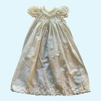 """Vintage White Cotton Doll Gown for  Small (8""""-12"""") French German Bisque"""