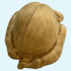 "Vintage 1940's Size 11"" Blonde Mohair Doll Wig in Beautiful Condition"
