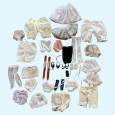 Vintage Lot of Undies, Shoes, Socks for Small Dolls