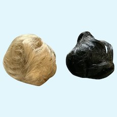 Pair of Fashion Doll Wigs - Blonde and Jet Black