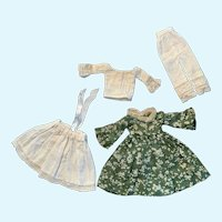 Vintage Doll Dress and Undies for Small French German Bisque China
