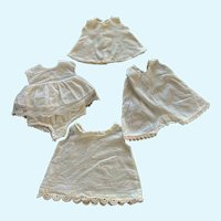 """Vintage 1940's 1950's Doll Slips and Onesies for 14""""-16"""" HP Compo"""