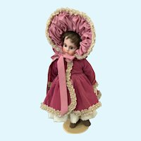 """Velvet, Satin, and Lace Doll Ensemble for 15""""-17"""" French German Bisque"""