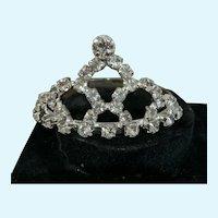 Sparkling Rhinestone Tiara / Crown for Small Doll