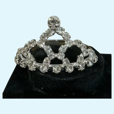 Sparkling Rhinestone Tiara / Crown for Small Doll