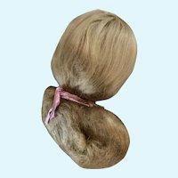 Vintage Ash Blonde Wig With Original Cardboard Pate