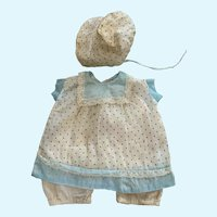 """Awesome 1940's Doll Dress, Onesie, and Bonnet for 15""""-17"""" Compo"""