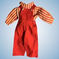 Vintage Handmade Overalls and Shirt