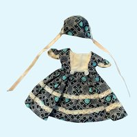 Charming Vintage Dress and Bonnet for Hitty Doll