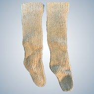 Beige Knitted Doll Socks