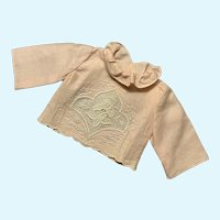 Exquisite Pink Linen Doll Blouse for French German Bisque China