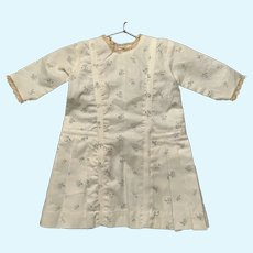 Vintage Cotton Linen Morning Dress for French German Bisque Doll