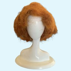 Small Ginger Red Mohair Doll Wig