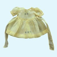 """Delightful Cotton Organdy Doll Dress with Slip for 18"""" Compo HP"""