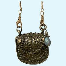 Vintage Goldtone Metal Purse / Handbag for Doll