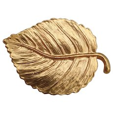 Vintage French Leaf Brooch from the 70's